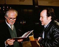 With Colombian painter, sculptor, draftsman and muralist Fernando Botero, Zurich.