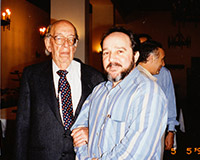 After having given a lecture at the Salamanca University in 1994, with professor José Luis López-Aranguren Jiménez, one of the most influential Spanish philosophers and essayists of the 20th century.
