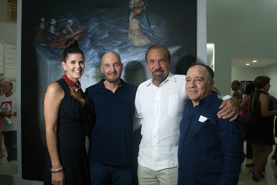 From left to right: Roberto Fabelo, Jorge Pérez, Tomás Sánchez & Darlene Pérez